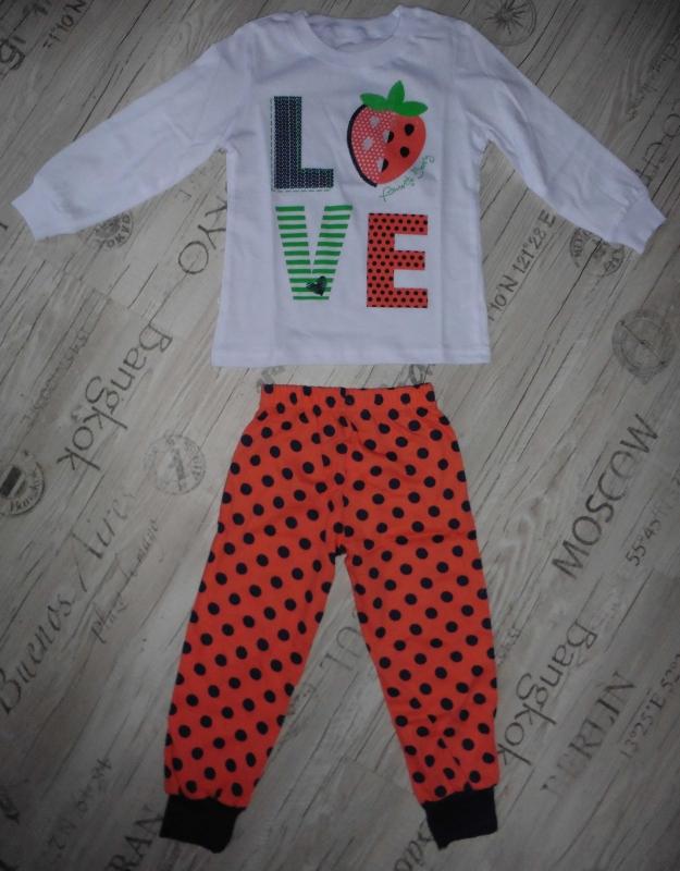 6f864b210791 Пижама детская GP 02-001п, белый/горох: купить, цена